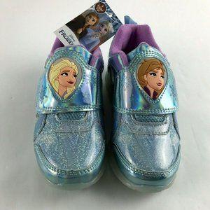 Disney Frozen 2 Toddler Girls Blue Light Up Shoes